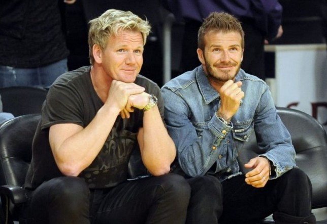 Dinner partners: David Beckham and Gordon Ramsay are teaming up for some fine dining projects (Photo: Getty)