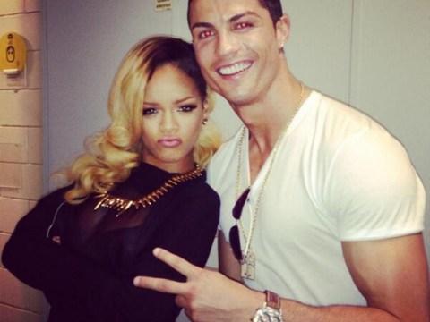 Rihanna turns up the heat with Cristiano Ronaldo backstage