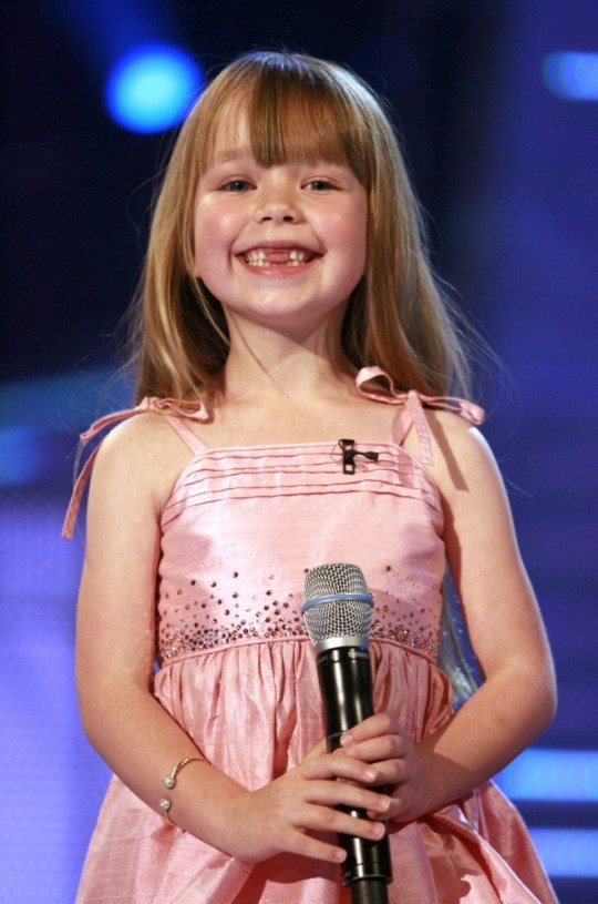 No Merchandising. Editorial Use Only  Mandatory Credit: Photo by Ken McKay / Rex Features (671301ad)  Connie Talbot  'Britain's Got Talent' TV programme, London, Britain  - 16 Jun 2007