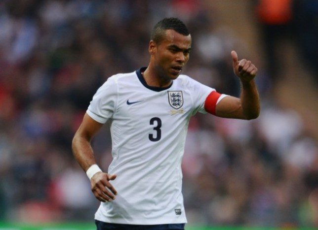 LONDON, ENGLAND - MAY 29:  Ashley Cole of England gives a thumbs up during the International Friendly match between England and the Republic of Ireland at Wembley Stadium on May 29, 2013 in London, England.  (Photo by Mike Hewitt/Getty Images)