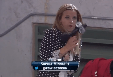 TV reporter gets hit in face by baseball, then continues with her broadcast – video