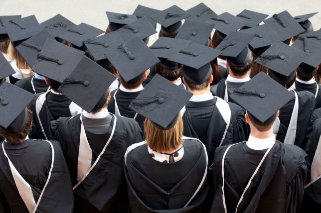 Students leaving university have seen earnings fall 11 per cent in real terms (Picture: File/Alamy)