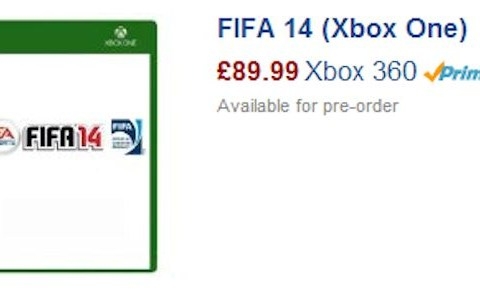 Fifa 14 listed for £90 (and £1) on Xbox One
