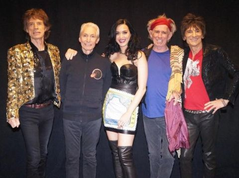 Katy Perry joins rock 'n' roll legends the Rolling Stones on stage in Las Vegas