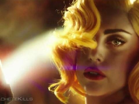 Lady Gaga and 'Carlos Estevez' star in Machete Kills trailer