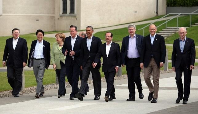 David Cameron at G8 summit