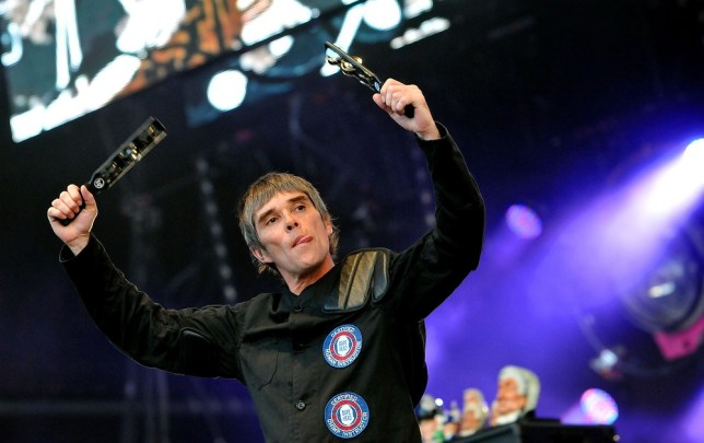 Ian Brown of The Stone Roses performs live on stage at Finsbury Park in their Isle Of Wight warm-ups. (Picture: Getty Images)