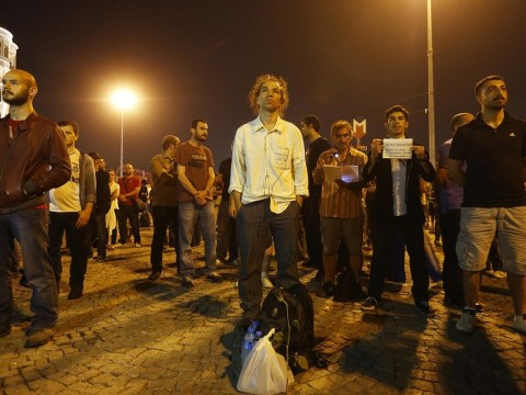 'The standing man': I'm standing here silently so Turkish voices are heard