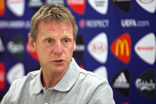 England U21 manager Stuart Pearce speaks during a press conference at the Netanya Stadium in the Mediterrannean coastal city of Netanya on June 04, 2013 on the eve of the UEFA European under-21 championship football match between Italy and England. Eight teams are due to play in the tournament, which begins on June 5 and ends on June 18. AFP/Getty Images