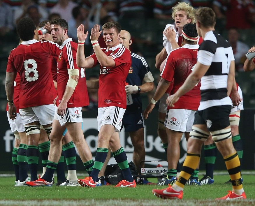 Lions fly-half Owen Farrell has no issues with Saracens clubmate Schalk Brits after Hong Kong bust-up