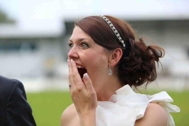 Ah, weddings. They don't always go according to plan (Picture: Mark Richardson/SWNS)