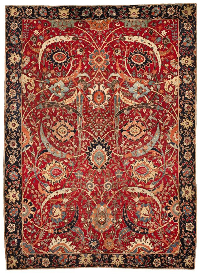 Expensive: This Persian rug sold for £22million (Picture: Sotheby's/AP)