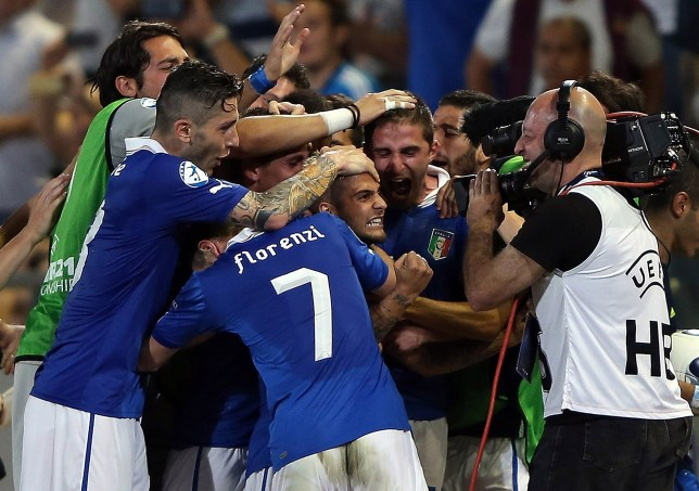 Lorenzo Insigne of Italy celebrates scoring a goal (Picture: Getty)