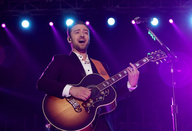 Justin Timberlake performed an impromptu acoustic set (Picture: PA)