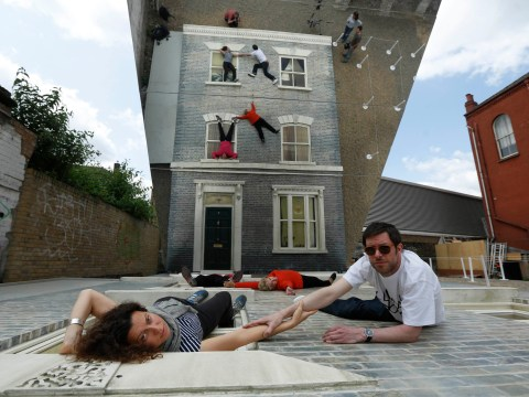 Gallery: Mirrored Dalston House illusion in Hackney street in east London