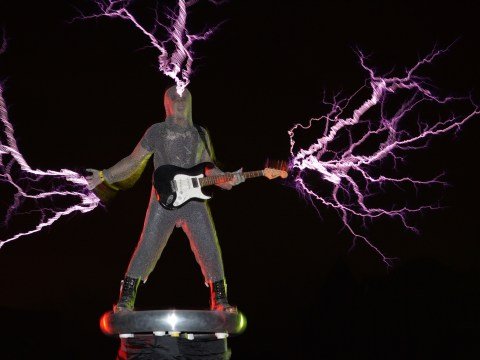 Gallery: True electric band Lightningfan create bolts of lightning during gigs