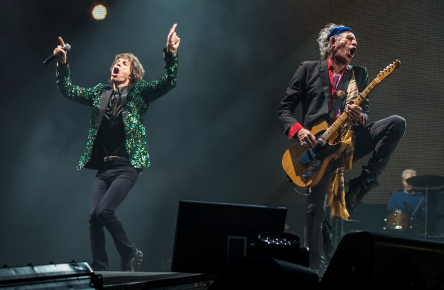 Mick Jagger and Keith Richards gave an energetic performance (Picture: Getty)