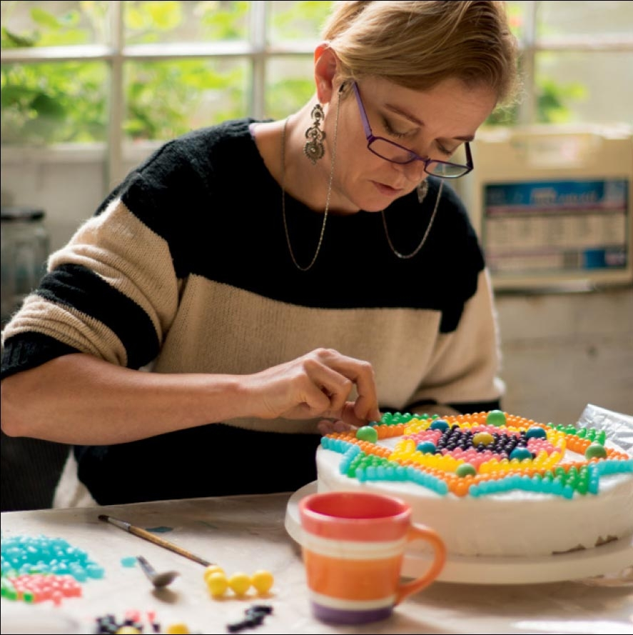 Cressida Bell at work on one of her cake designs (Picture: Sonja Read)