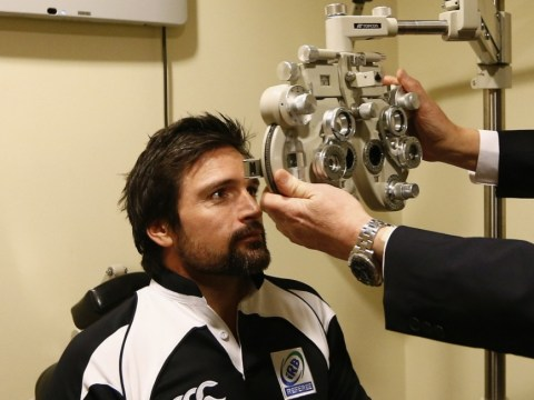Referee Steve Walsh gets eyes tested ahead of British & Irish Lions match