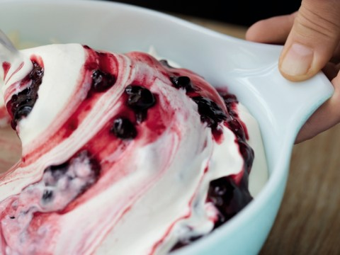 How to make Claire Kelsey's easy berry ripple ice cream