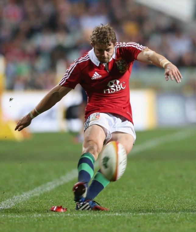PERTH, AUSTRALIA - JUNE 05:  Leigh Halfpenny of the Lions kicks a conversion during the tour match between the Western Force and the British & Irish Lions at Patersons Stadium on June 5, 2013 in Perth, Australia.  (Photo by David Rogers/Getty Images)