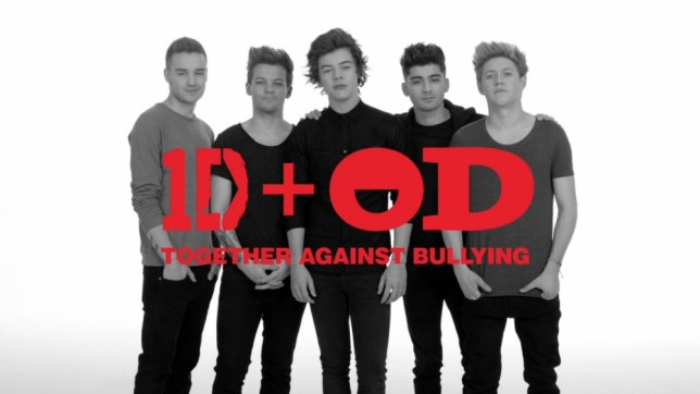 ****Ruckas Videograbs****  (01322) 861777 *IMPORTANT* Please credit Office Depot for this picture. 11/06/13 Grabs from a new video which see's boyband One Drection teaming up with office supply giants Office Depot for an anti-bullying PSA. The boys - Liam Payne, Louis Tomlinson, Harry Styles, Zayn Malik, and Niall Horan - star in Office Depot's Back To School Campaign (called '1D+OD Live Love Move') and are part of an unlikely collaboration which will feature co-designed products with their face's on, in a bid to spread the anti-bullying message and raise awareness across America. Office  (UK)  : 01322 861777 Mobile (UK)  : 07742 164 106 **IMPORTANT - PLEASE READ** The video grabs supplied by Ruckas Pictures always remain the copyright of the programme makers, we provide a service to purely capture and supply the images to the client, securing the copyright of the images will always remain the responsibility of the publisher at all times. Standard terms, conditions & minimum fees apply to our videograbs unless varied by agreement prior to publication.