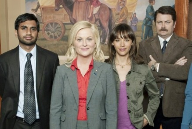 Amy Poehler stars as Leslie Knope (front) in Parks And Recreation (Picture: NBC)