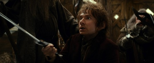 Martin Freeman as the Hobbit Bilbo Baggins