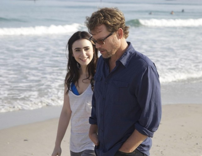 Lily Collins and Greg Kinnear in Stuck In Love (Picture: supplied)