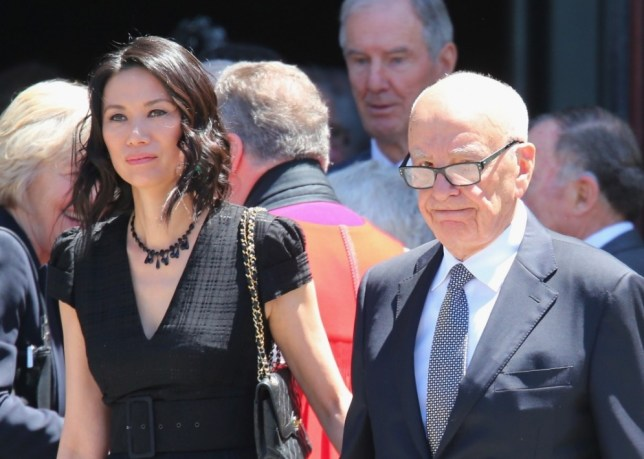 FILE - JUNE 13: According to reports June 13, 2013, Rupert Murdoch has filed for divorce from his wife Wendi Deng. MELBOURNE, AUSTRALIA - DECEMBER 18:  Rupert Murdoch and his wife Wendi Deng Murdoch leave after attending the Dame Elisabeth Murdoch public memorial at St Paul's Cathedral on December 18, 2012 in Melbourne, Australia. Dame Murdoch passed away on December 5th, aged 103.  (Photo by Scott Barbour/Getty Images)