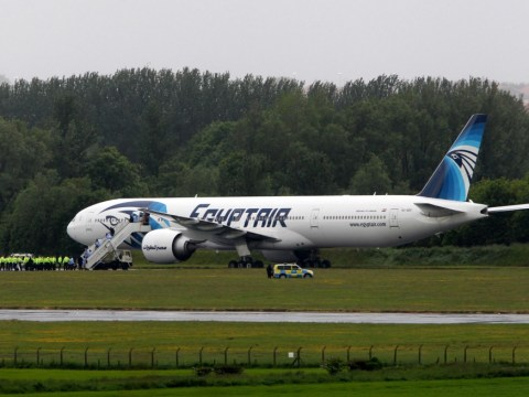 Egyptair plane diverted to Glasgow with fighter jet escort after 'threatening note' found
