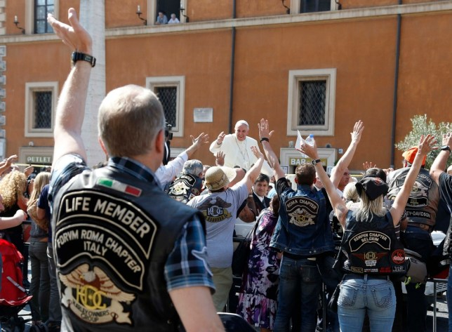 Pope Francis blesses thousands of bikers in Harley-Davidson celebration