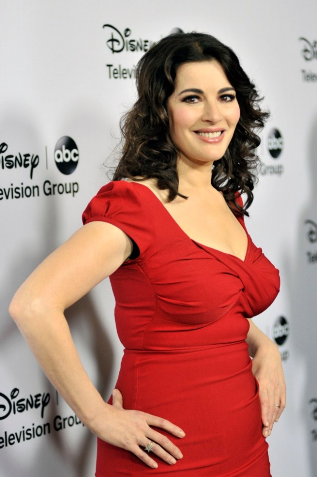 "PASADENA, CA - JANUARY 10: Nigella Lawson arrives for the Disney ABC ""2013 WInter TCA Tour"" event at The Langham Huntington Hotel and Spa on January 10, 2013 in Pasadena, California. (Photo by Toby Canham/Getty Images)"
