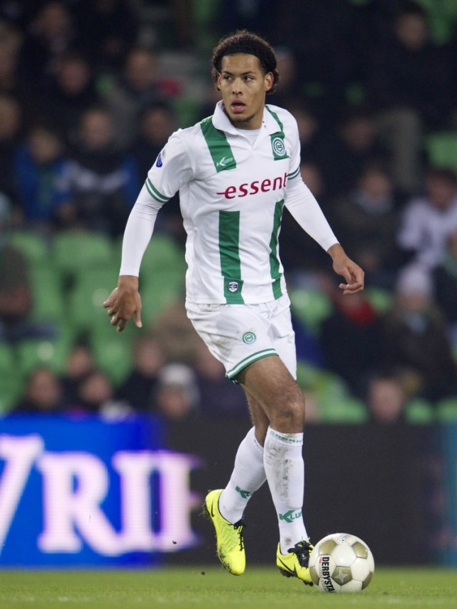 Virgil van Dijk of FC Groningen during the Dutch Eredivisie match between FC Groningen and NAC Breda at the Euroborg on march 08, 2013 in Groningen, The Netherlands(Photo by VI Images via Getty Images)