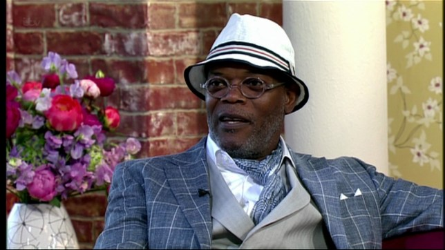 This Morning. Shown on ITV1 HD Samuel Jackson talks about his work in raising awareness of Cancer and the new 'Avengers 2' movie. Featuring: Samuel Jackson When: 17 Jun 2013 Credit: Supplied by WENN **WENN does not claim any ownership including but not limited to Copyright or License in the attached material. Any downloading fees charged by WENN are for WENN's services only, and do not, nor are they intended to, convey to the user any ownership of Copyright or License in the material. By publishing this material you expressly agree to indemnify and to hold WENN and its directors, shareholders and employees harmless from any loss, claims, damages, demands, expenses (including legal fees), or any causes of action or  allegation against WENN arising out of or connected in any way with publication of the material.offline**