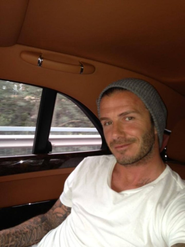 David Beckham who took this 'selfie' and put it up on his facebook page with the message 'Just arrived in China. Hi everyone!'
