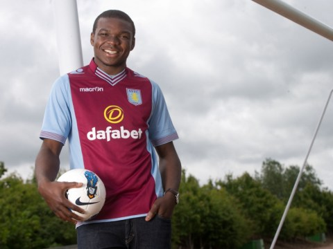 Laid back Aston Villa recruit Jores Okore falls asleep during his medical