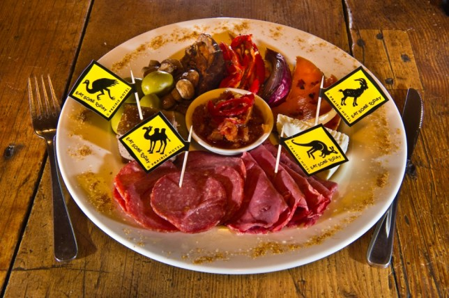 It may appear to be a normal meat platter but look closer - this is camel, emu and kangaroo (Picture: Alamy)