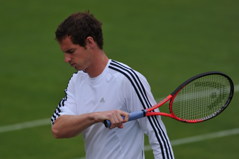 Britain's Andy Murray takes part in a training session at the All England Tennis Club in Wimbledon, southwest London, on June 23, 2013 on the eve of the start of the 2013 Wimbledon Championships tennis tournament. AFP PHOTO / CARL COURT -  RESTRICTED TO EDITORIAL USECARL COURT/AFP/Getty Images