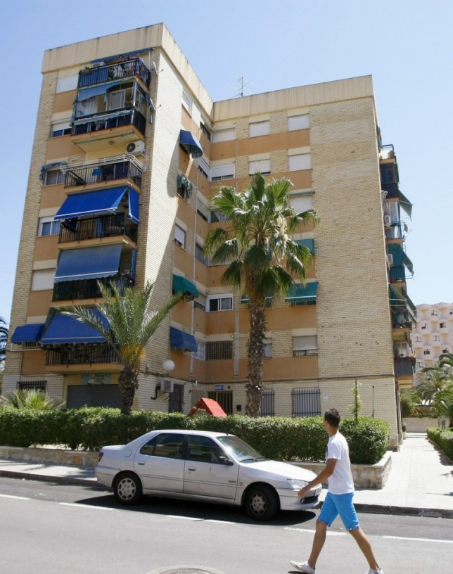 The apartment building in Alicante, Spain, where the baby was found