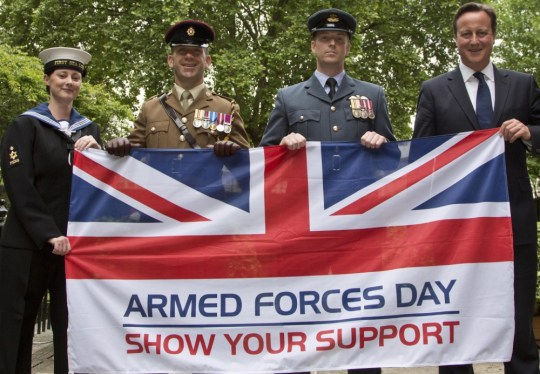 Armed Forces Day 2013: David Cameron pays tribute to 'extraordinary' military