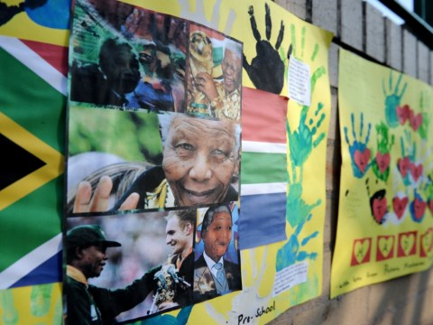 Nelson Mandela remains 'critical' in hospital as doves released outside hospital