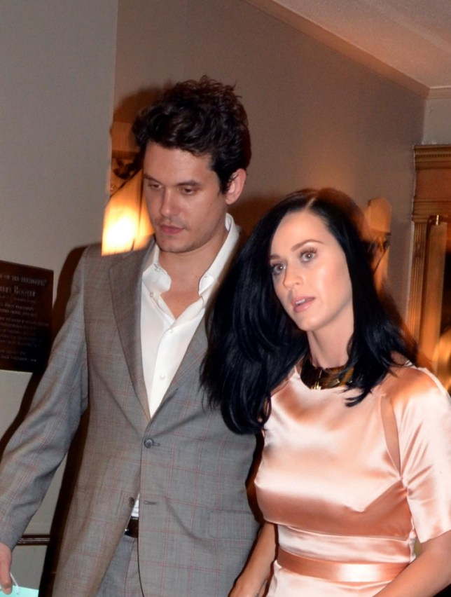 NEW YORK, NEW YORK - JUNE 24:  John Mayer and Katy Perry seen leaving The Waldorf Astoria on June 24, 2013 in New York City.  PHOTOGRAPH BY MAXA /Landov / Barcroft Media  UK Office, London. T +44 845 370 2233 W www.barcroftmedia.com  USA Office, New York City. T +1 212 796 2458 W www.barcroftusa.com  Indian Office, Delhi. T +91 11 4053 2429 W www.barcroftindia.com