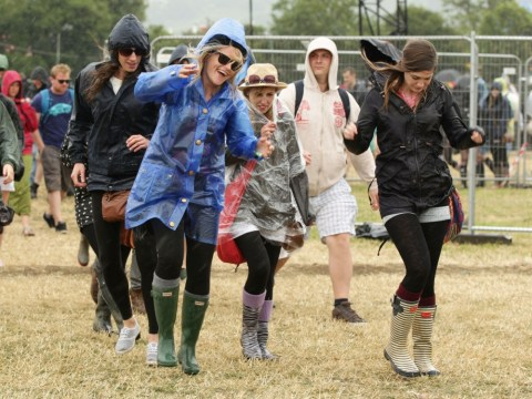 Wellies give way to sunnies at Glastonbury with sun set to Shine a Light on Jagger and co after a soggy start