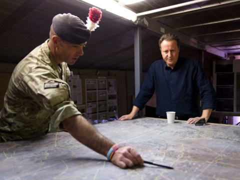 David Cameron visits troops in Afghanistan on Armed Forces Day