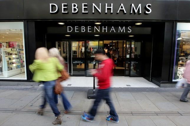 A Debenhams store in Manchester city centre, as the department s