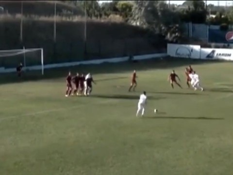 Chip off the old block: Gheorghe Hagi's son Ianis, 15, curls perfect free-kick into top corner