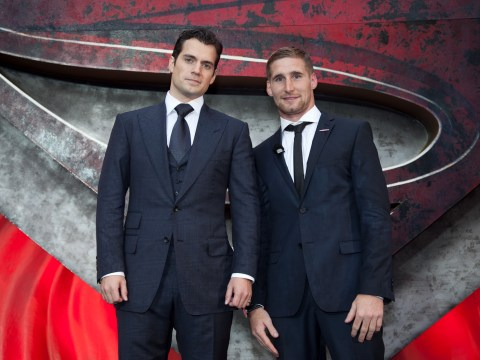 Man of Steel meets Man of Steel: Superman Henry Cavill rubs shoulders with Wigan's Sam Tomkins