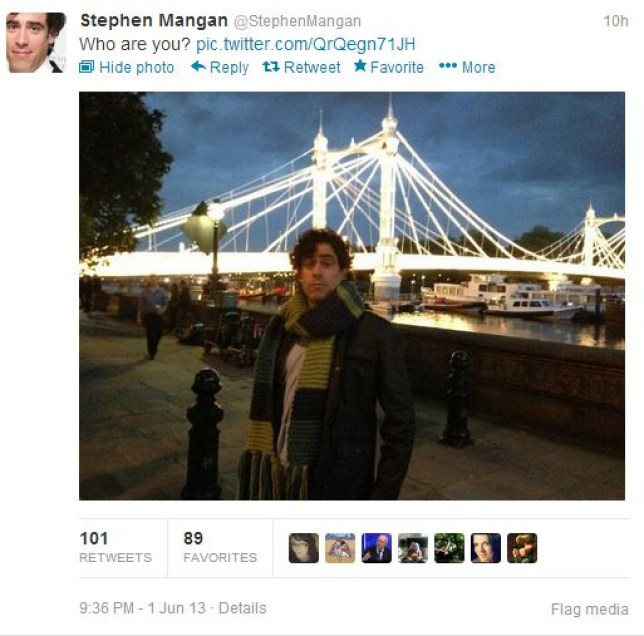 Stephen Mangan teased Twitter that he may be the next Doctor Who (Picture: Twitter/@StephenMangan)