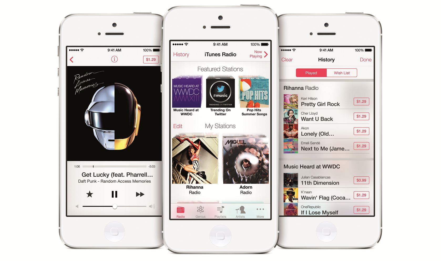 iTunes Radio announced by Apple as part of iOS 7